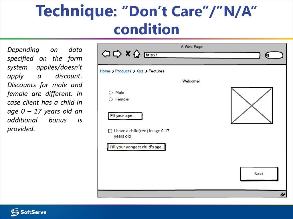 "Technique: ""Don't Care""/""N/A"" condition"