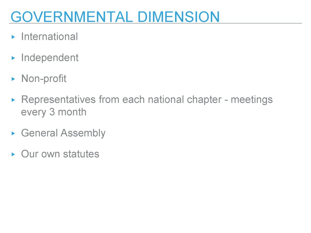 governmental dimension