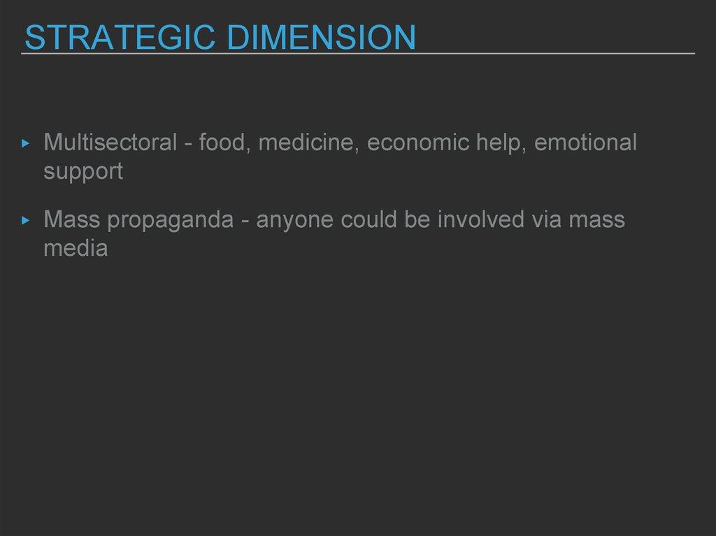 strategic dimension