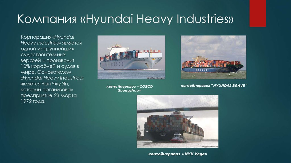 Компания «Hyundai Heavy Industries»