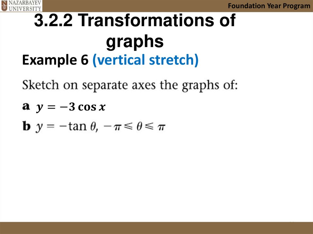 3.2.2 Transformations of graphs