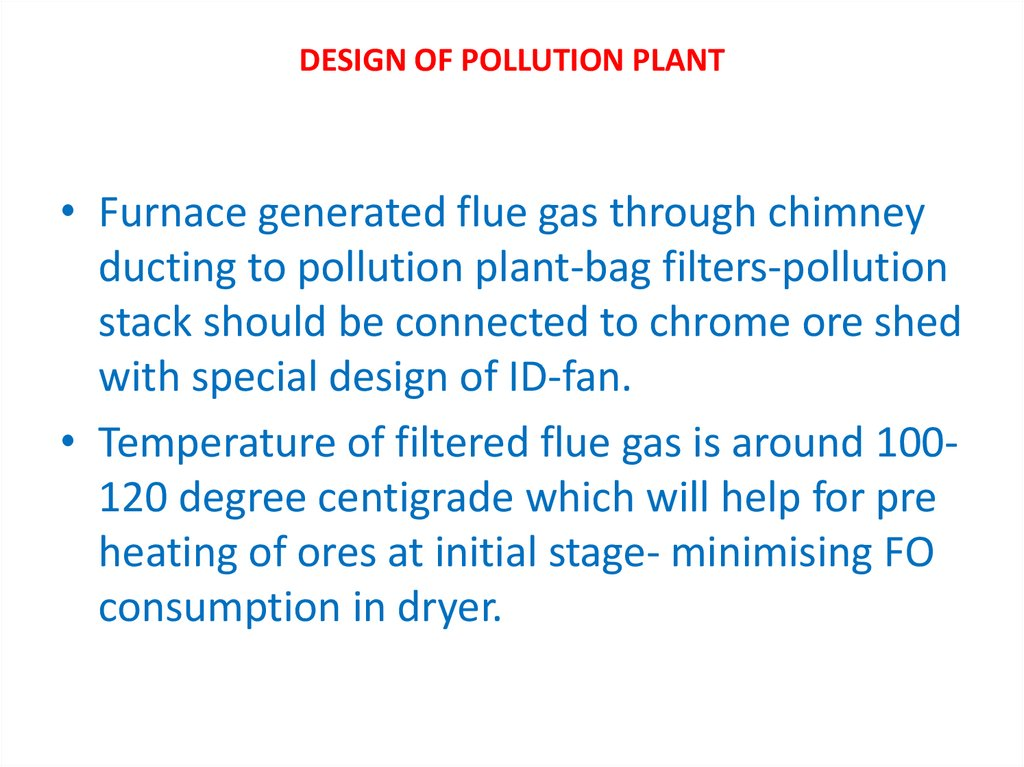 DESIGN OF POLLUTION PLANT