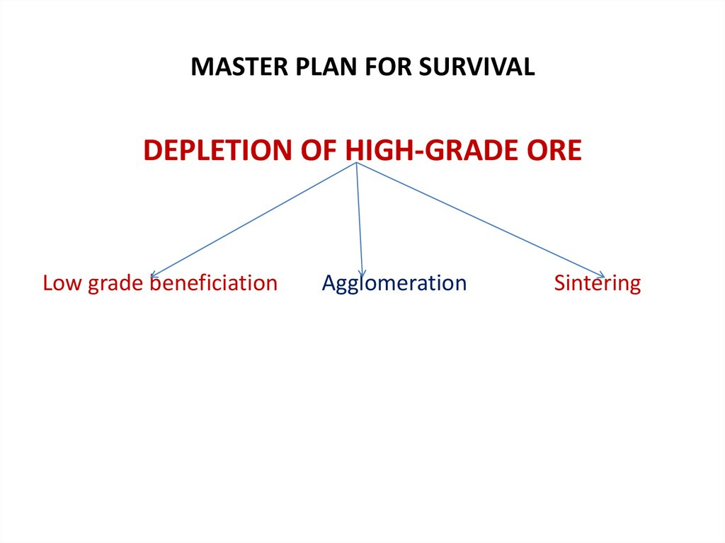 MASTER PLAN FOR SURVIVAL