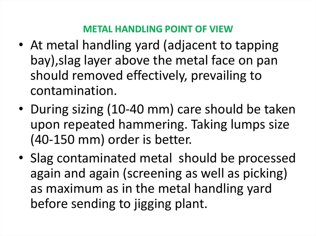 METAL HANDLING POINT OF VIEW