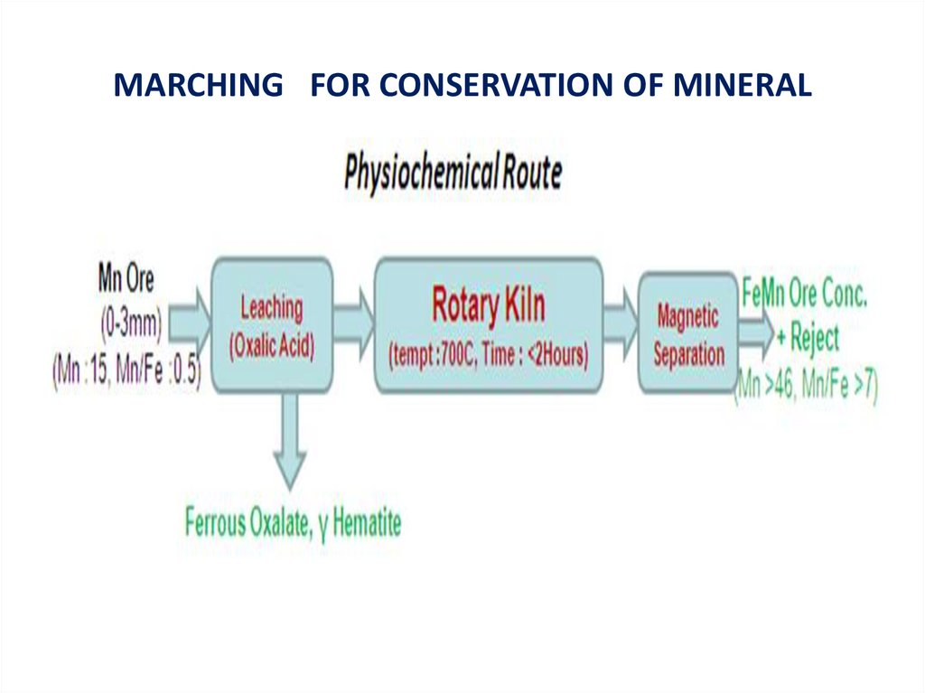MARCHING FOR CONSERVATION OF MINERAL