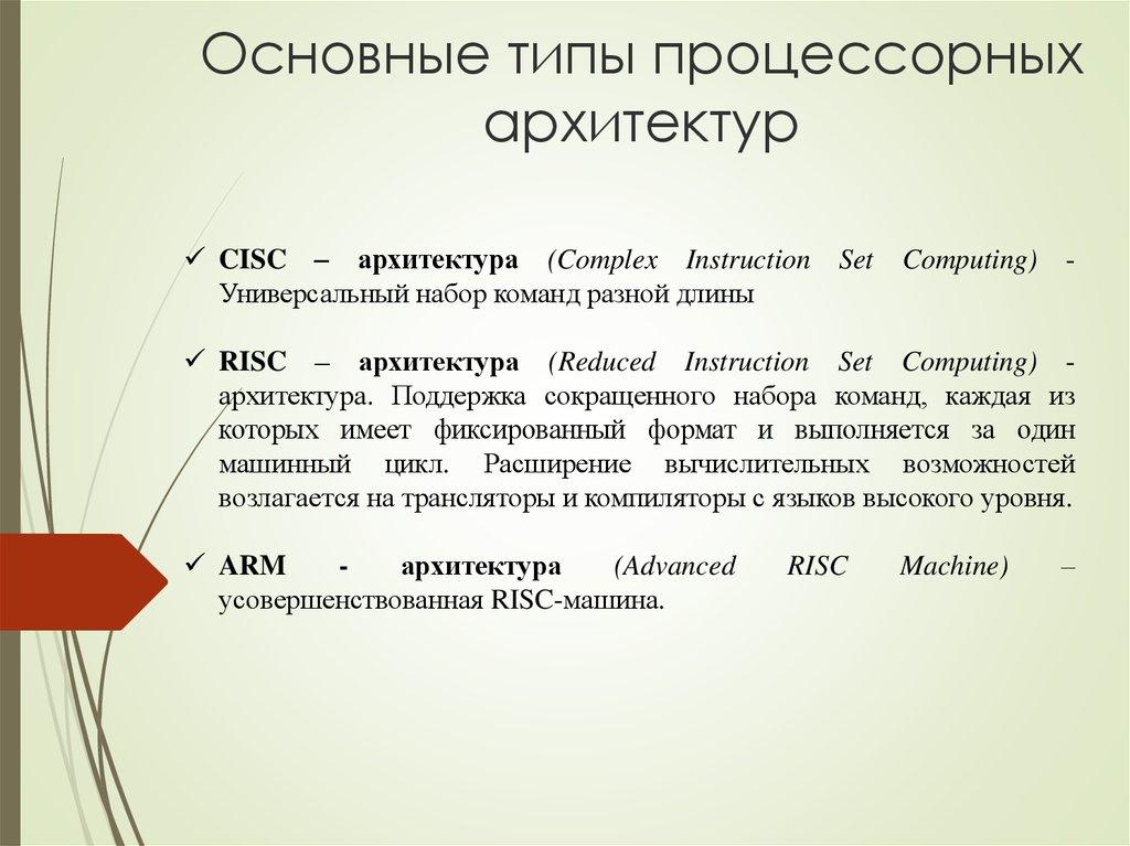 Основные принципы работы современных процессоров типы архитектуры основные блоки конвейер ключевская элеватор