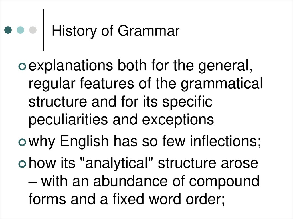 History of Grammar