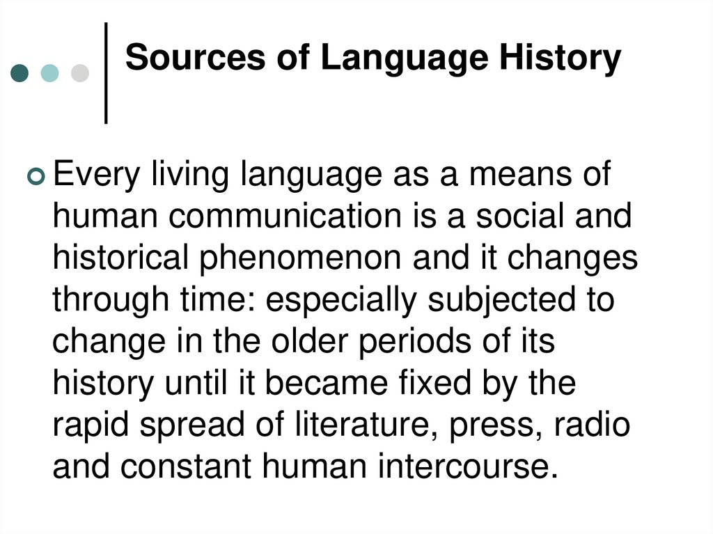 Sources of Language History