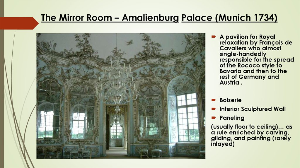 The Mirror Room – Amalienburg Palace (Munich 1734)