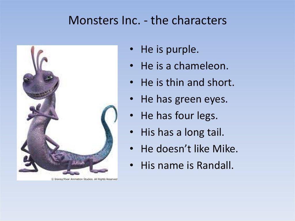 Monsters Inc Online Presentation