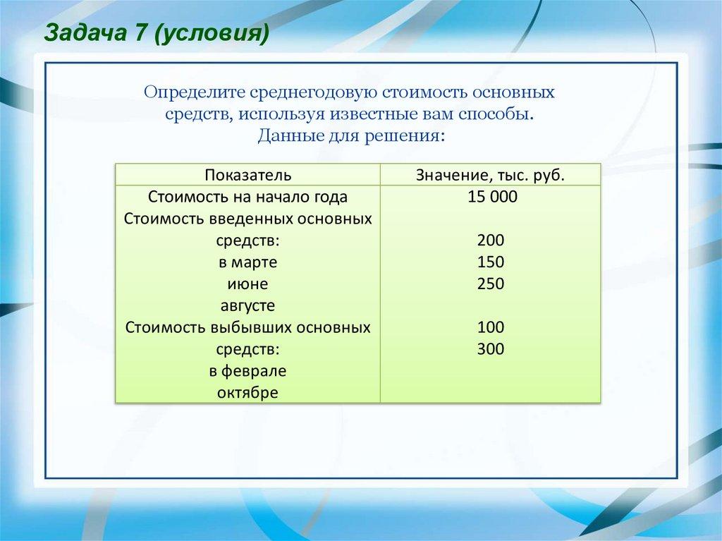 Основные производственные фонды предприятия решения задач онлайн решение задач по русскому языку