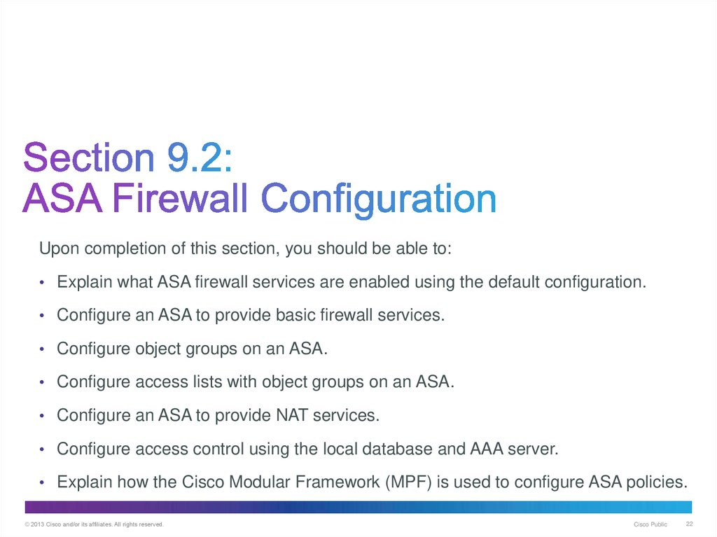 Implementing the Cisco Adaptive Security  (Chapter 9
