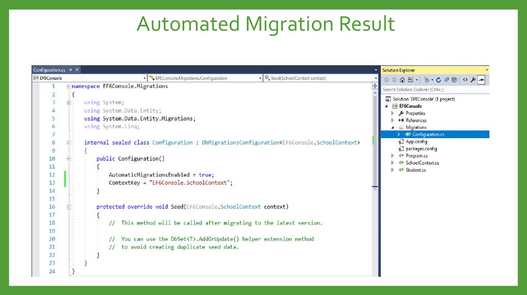 Automated Migration Result