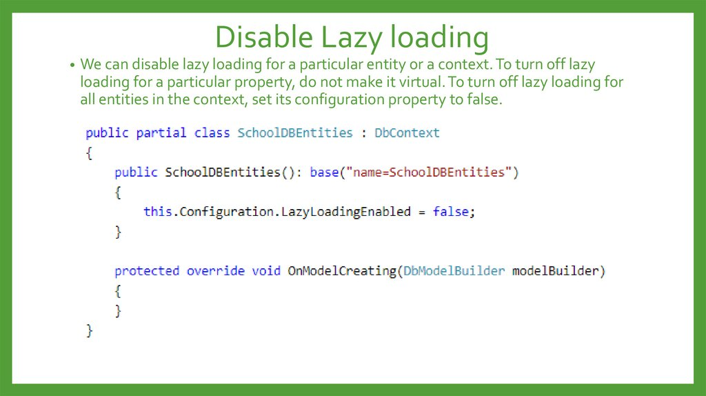 Disable Lazy loading