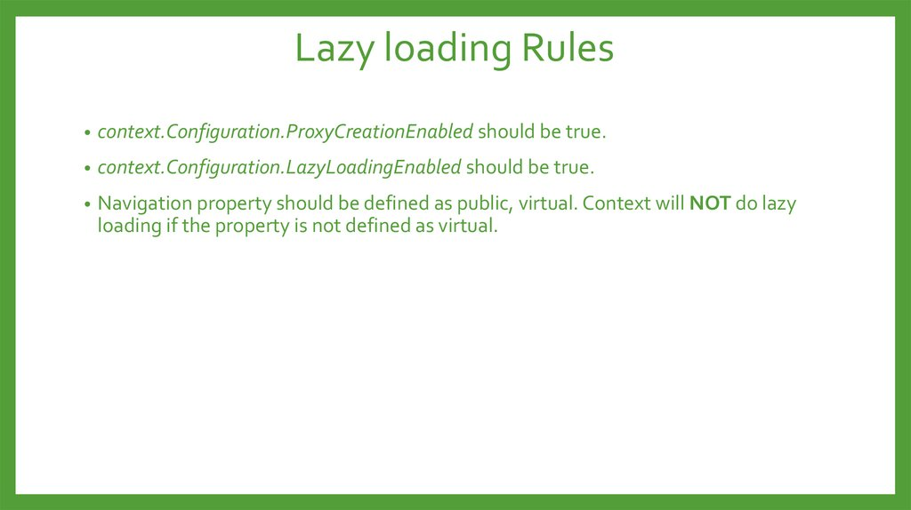 Lazy loading Rules