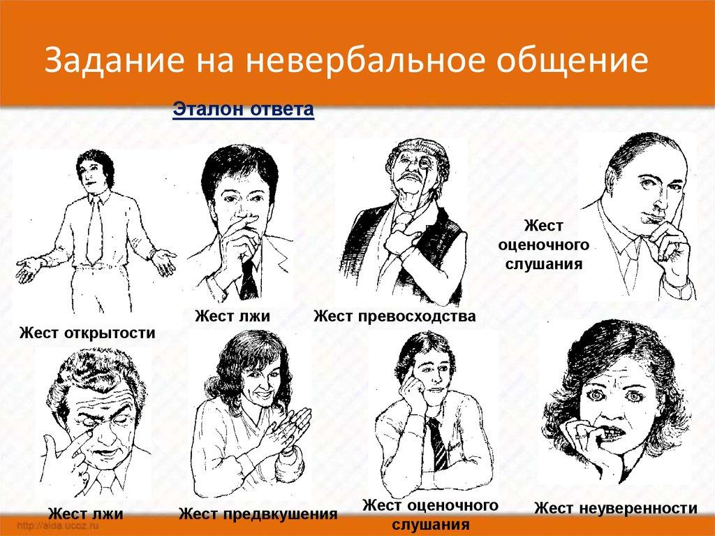 Тест на жесты и мимику с картинками нужно замочить