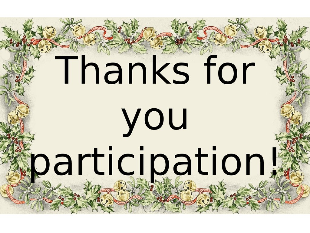 Thanks for you participation!