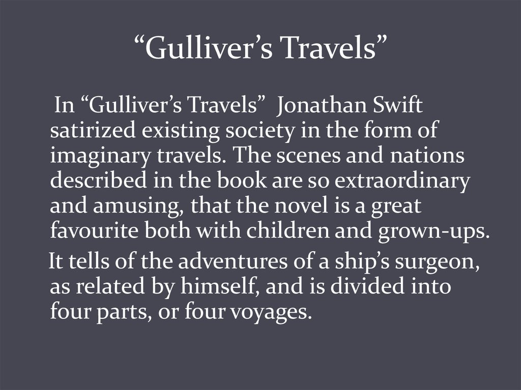 """Gulliver's Travels"""