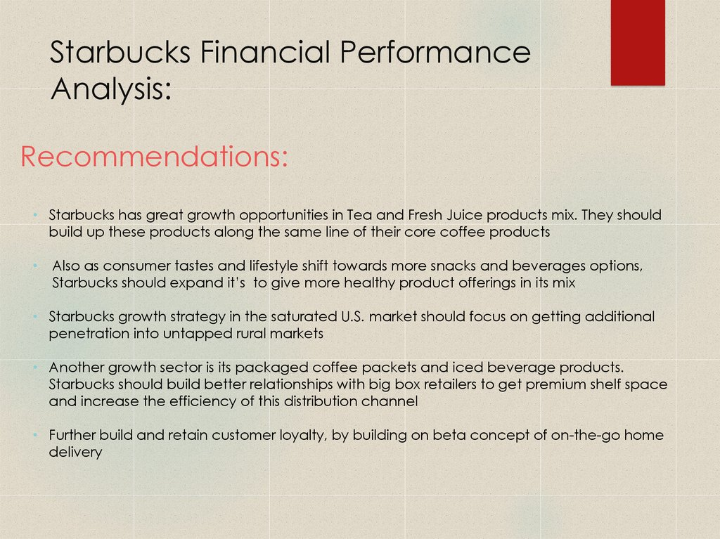 Starbucks Financial Performance Analysis: