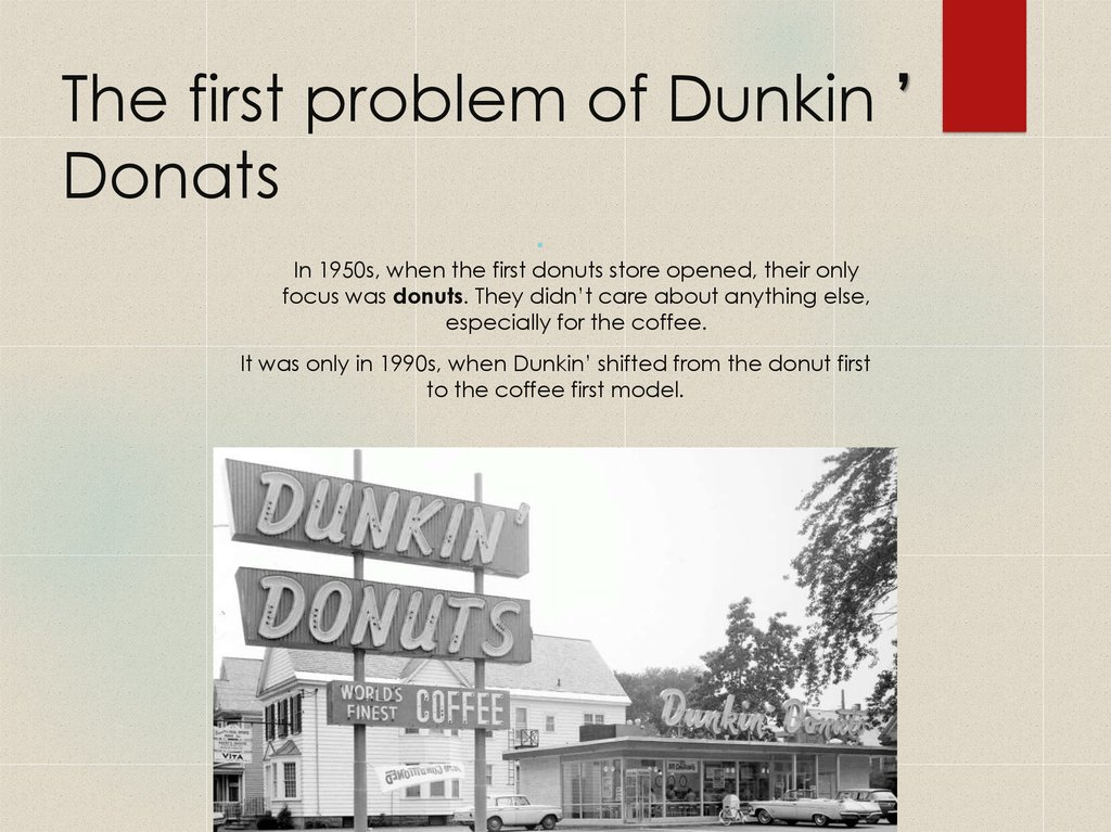 The first problem of Dunkin ' Donats