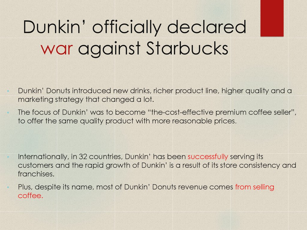 Dunkin' officially declared war against Starbucks