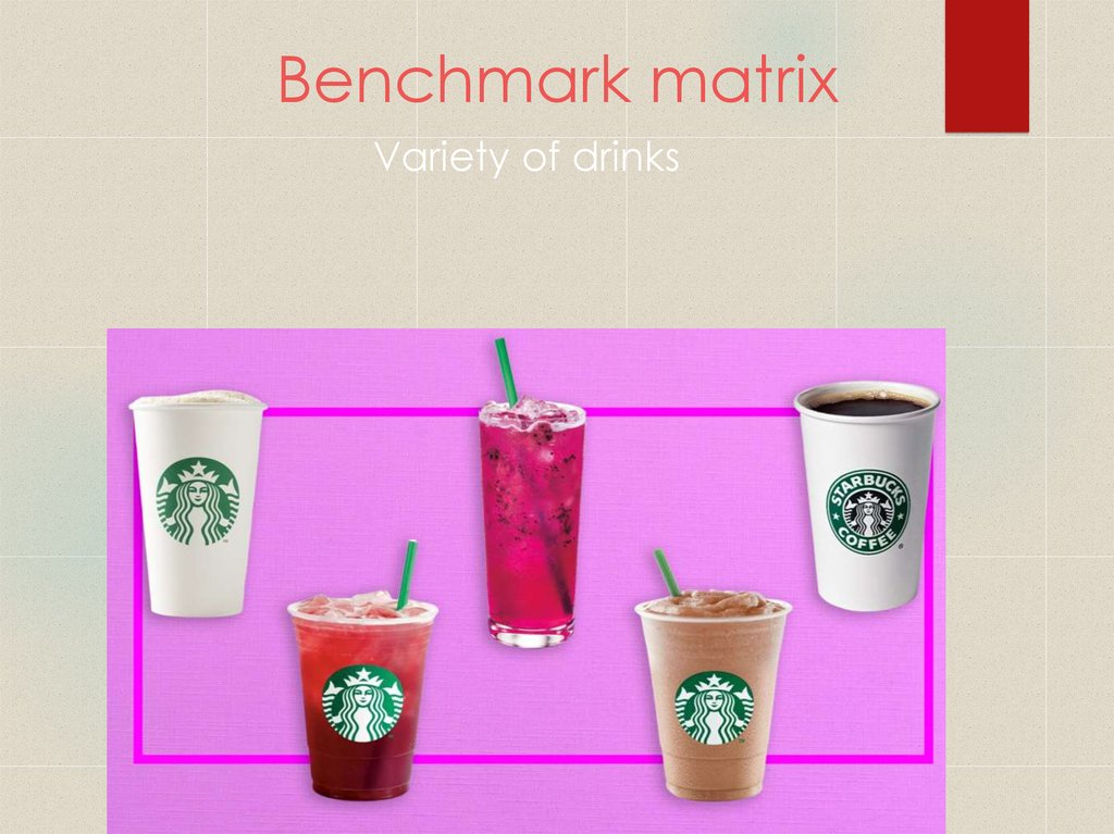 Benchmark matrix