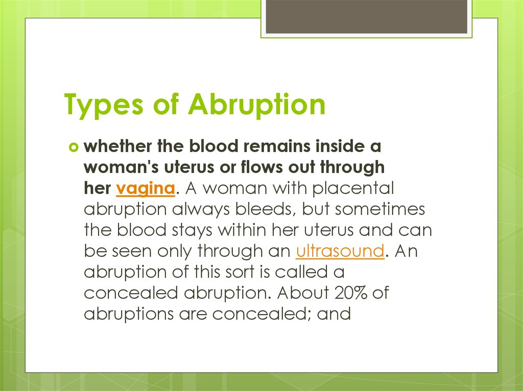 Types of Abruption