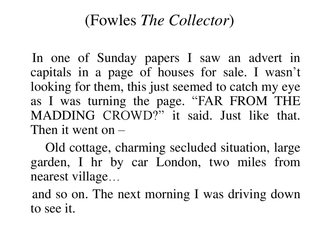 (Fowles The Collector)