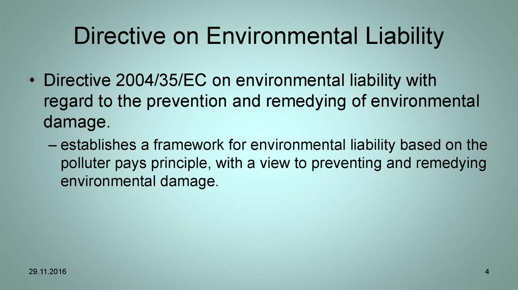 Directive on Environmental Liability