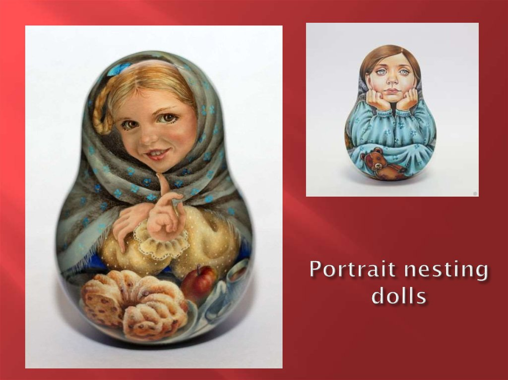 Portrait nesting dolls