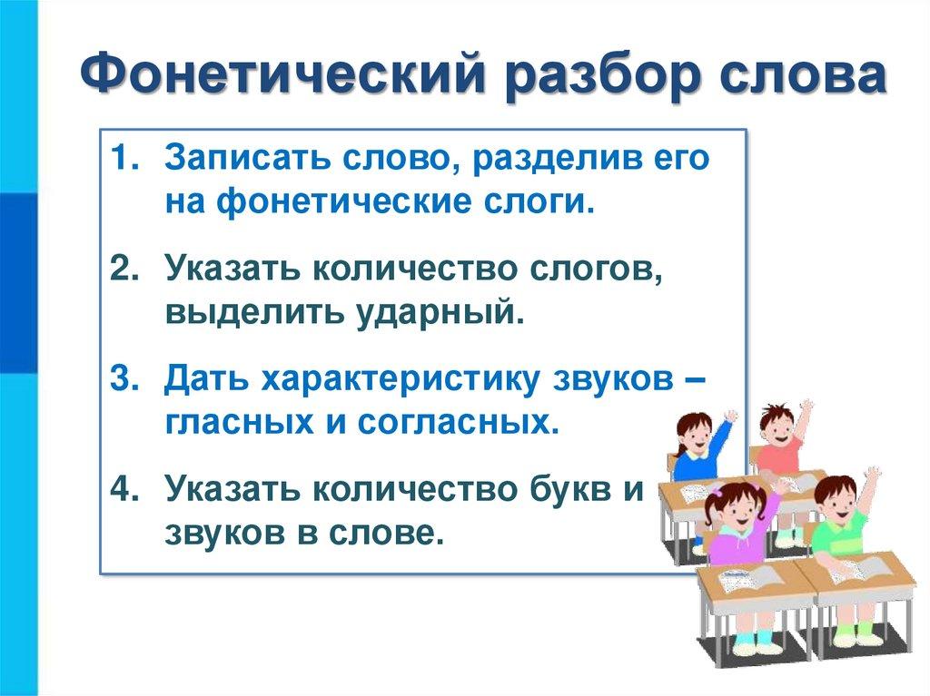 Клюёт фонетический (звуко-буквенный) разбор слова