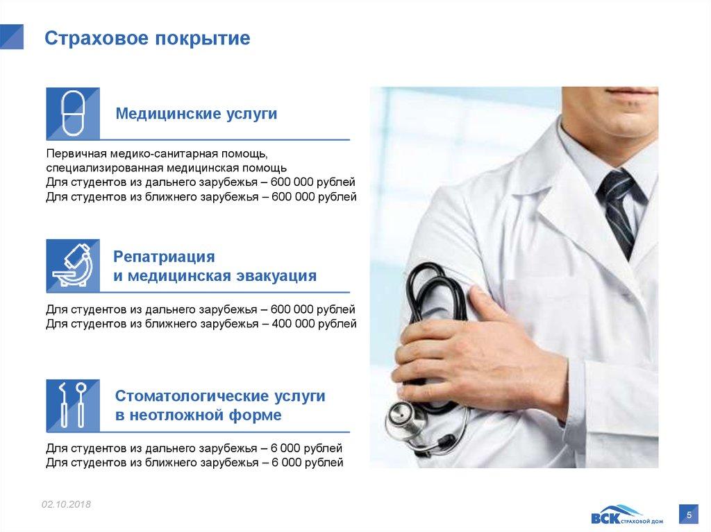 медицинская страхование для иностранных студентов