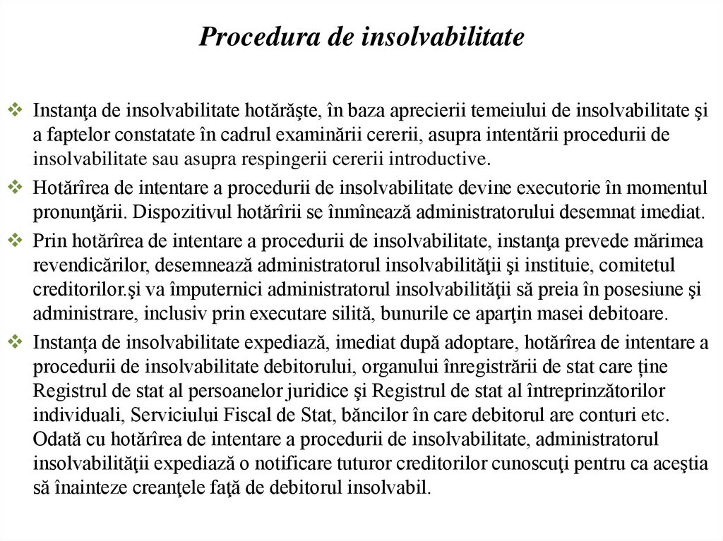 Procedura de insolvabilitate