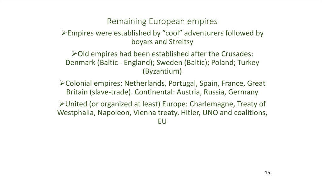 Remaining European empires