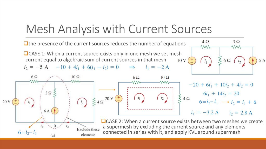 Mesh Analysis with Current Sources