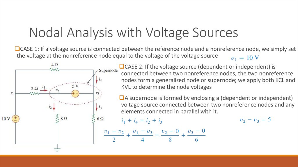 Nodal Analysis with Voltage Sources