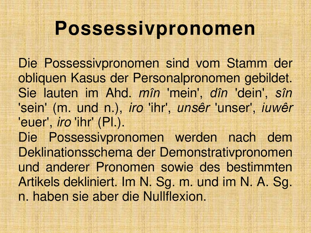 Possessivpronomen