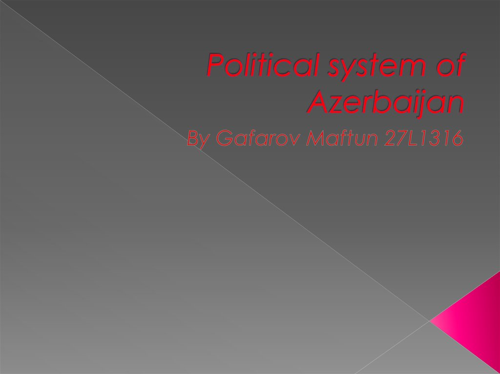 Political system of Azerbaijan