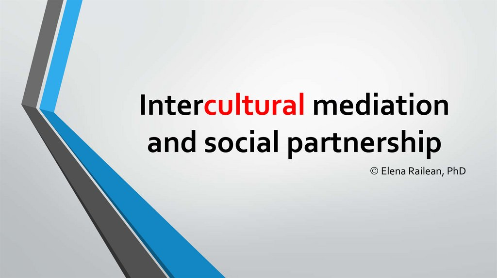 Intercultural mediation and social partnership