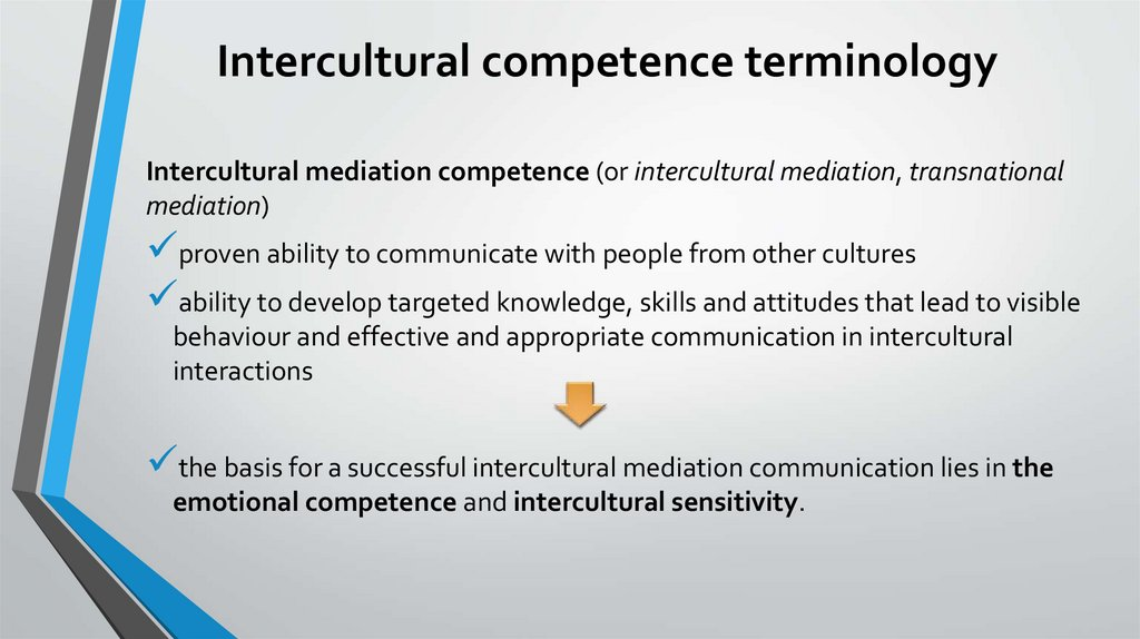 Intercultural competence terminology