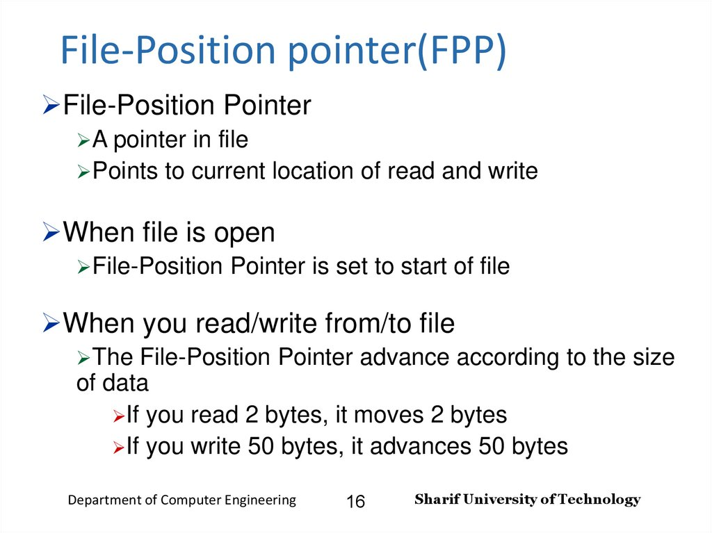 File-Position pointer(FPP)