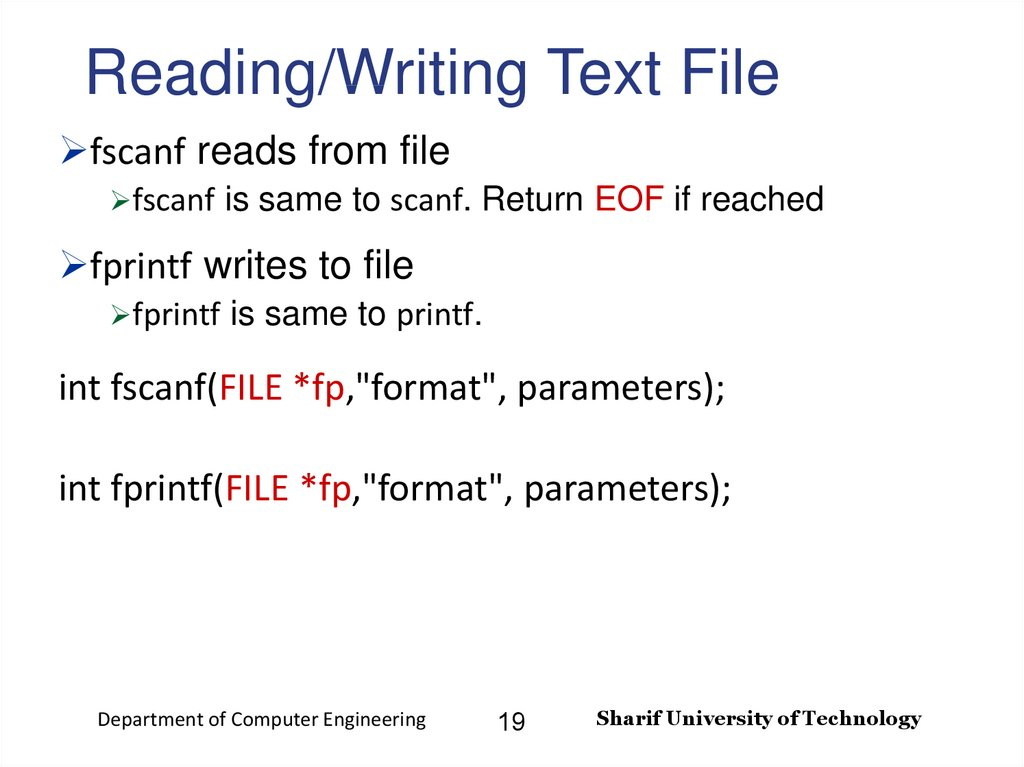 Reading/Writing Text File