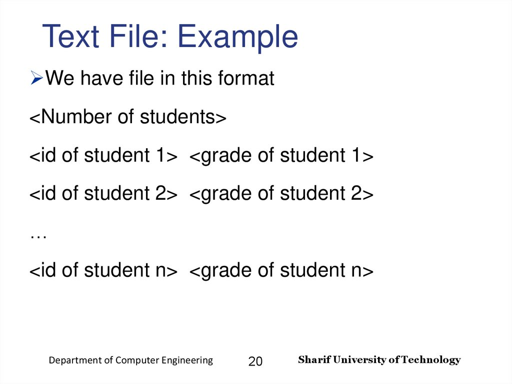 Text File: Example