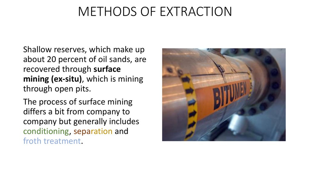 METHODS OF EXTRACTION