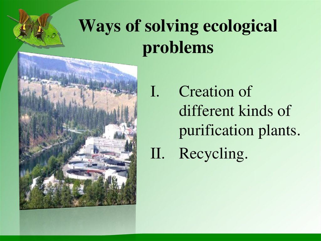 Ways of solving ecological problems