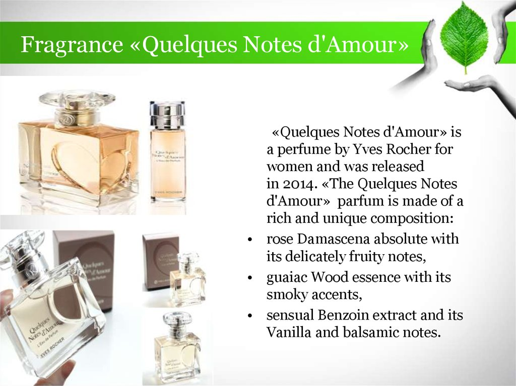 Fragrance «Quelques Notes d'Amour»