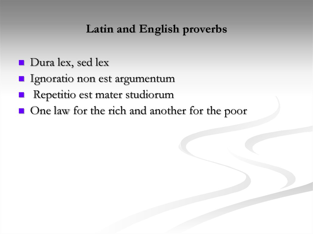 Latin and English proverbs