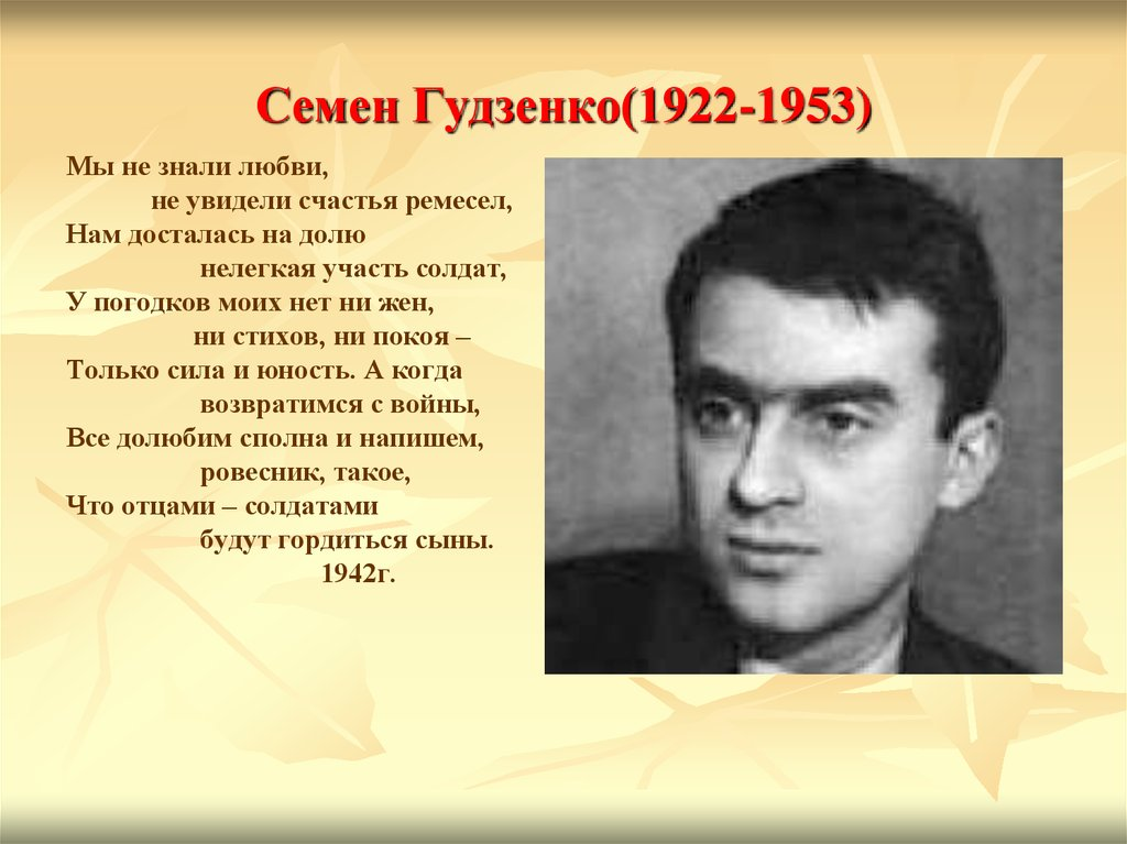 Семен Гудзенко(1922-1953)