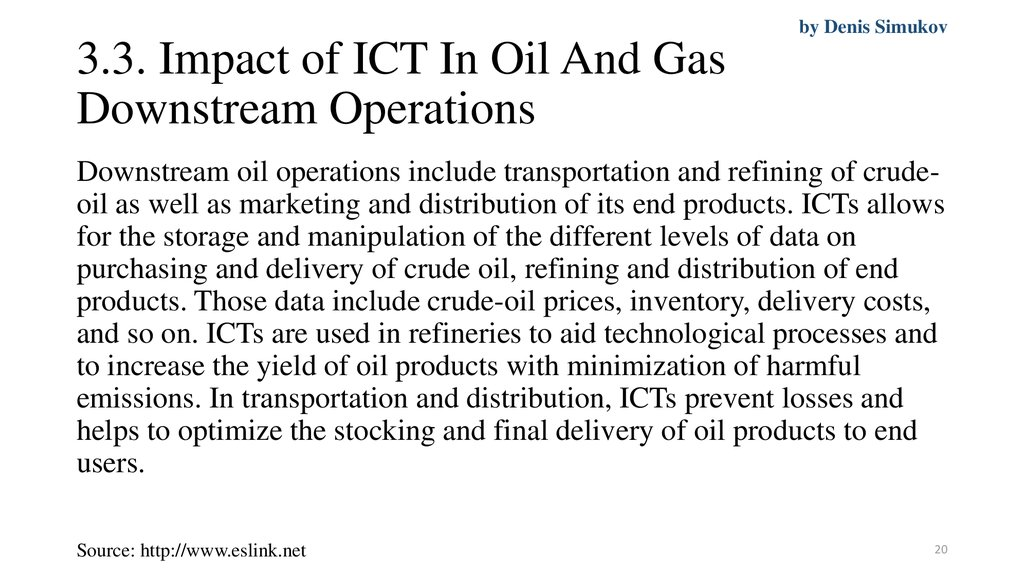 3.3. Impact of ICT In Oil And Gas Downstream Operations