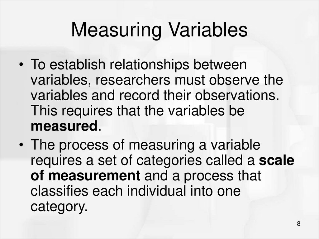 Measuring Variables